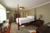 Mahogany furniture and an ultra plush bed